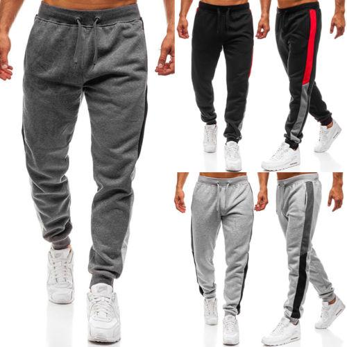 571f8dd1d6 2019 NEW Men'S Track Pants Slim Cuff Trousers Sport Tracksuit Plain Black  Grey Men Solid Cotton Casual Long Pants Male Clothing From Jerkin, &Price;  | ...