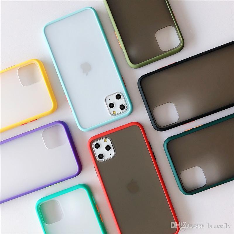 Caixa do telefone da pele para o iPhone 11 pro Max X XR XS Max 6 6s 6plus 7 7plus 8 8plus Proteção 3D Defender tampa traseira do PC + TPU fosco telefone caso