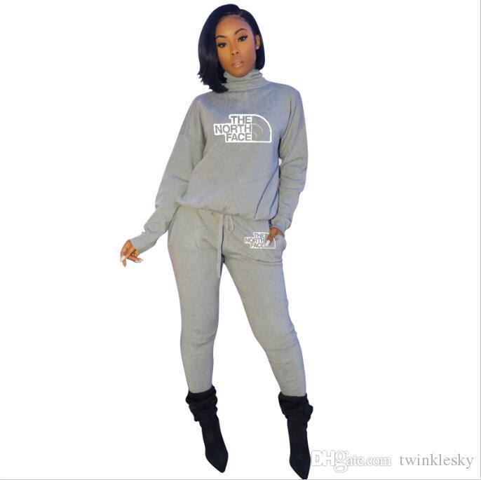 Çok renkli Kadınlar Tracksuits Spor Seti Büyük dil Eşofman Kıyafet 2 Adet Set uzun delik Pantolon BODYCON Sonbahar Ve Kış Giyim Artı boyutu