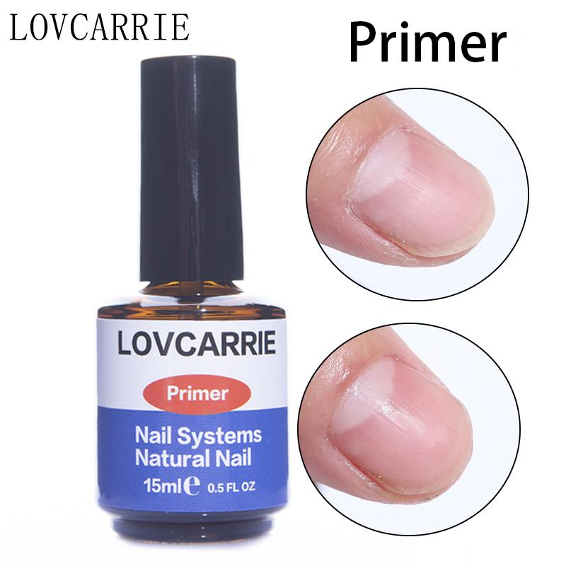 Cheap Multi-Use Top & Base Coat LOVCARRIE 15ML Acrylic Nail Primer Poly gel No Acid Nail Dehydrator Gel Base Coat for Nails