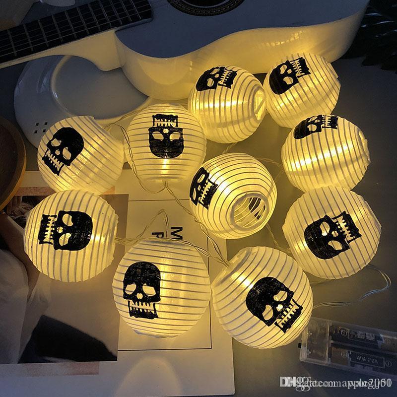 Хэллоуин светодиодного черепов света шнур Garland батарея Box устройство Нового год Новогодние украшения для Хэллоуина дома рождественских украшений нового