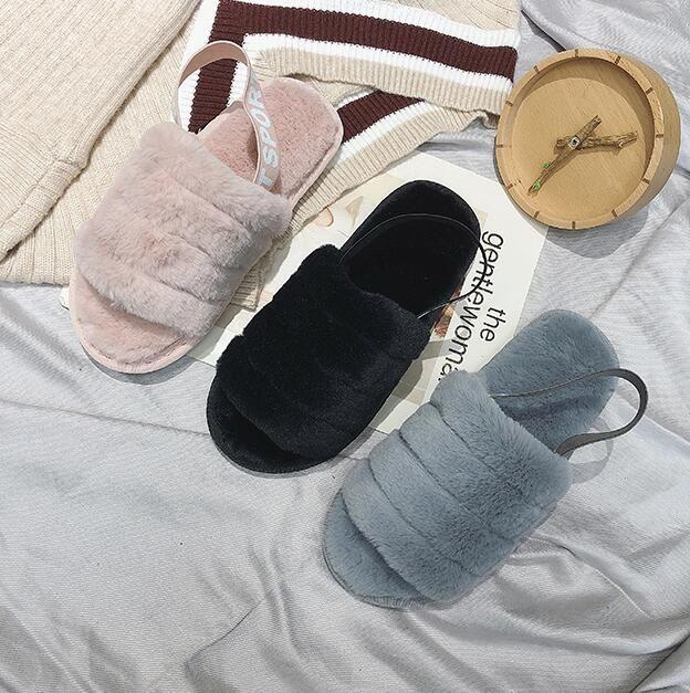 zapatillas suaves pila de Australia de las mujeres de la marca famosa es una diapositiva a través Designercasual diseño de lujo botas de los zapatos de moda deslizadores de las mujeres
