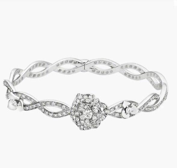 Есть марки цветок дизайнер Алмазные браслеты для леди Дизайн женская партия Свадебные помолвки Роскошные ювелирные изделия для пар дар