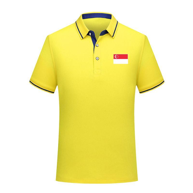 Дизайнер Сингапур сборной Футбол рубашки поло с коротким рукавом поло спортивной тренировки Polos футбол T-Shirt Джерси Мужские поло тенниска