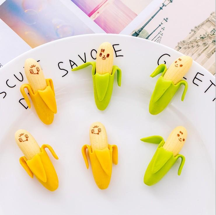 Banana Erasers  Cute School Supplies  Stationery  Christmas Gifts  Fruit Erasers  Small Gifts  Small Erasers  Set of 2 Banana Erasers