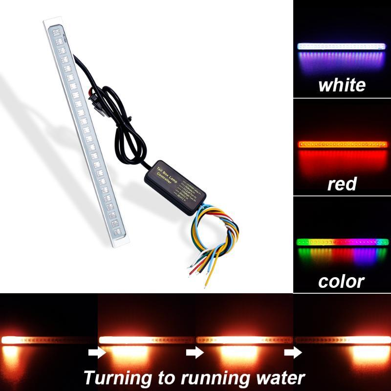 Universal 12V 24 LED Car License Plate Light Auto 19cm Waterproof Exterior 1200Lm Follow Colorfull Lamp Decoration Lights