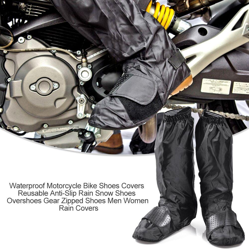 EE/_ WATERPROOF SHOE COVER REUSABLE ANTI-SLIP RAIN BOOT MOTORCYCLE BIKE OVERSHOE