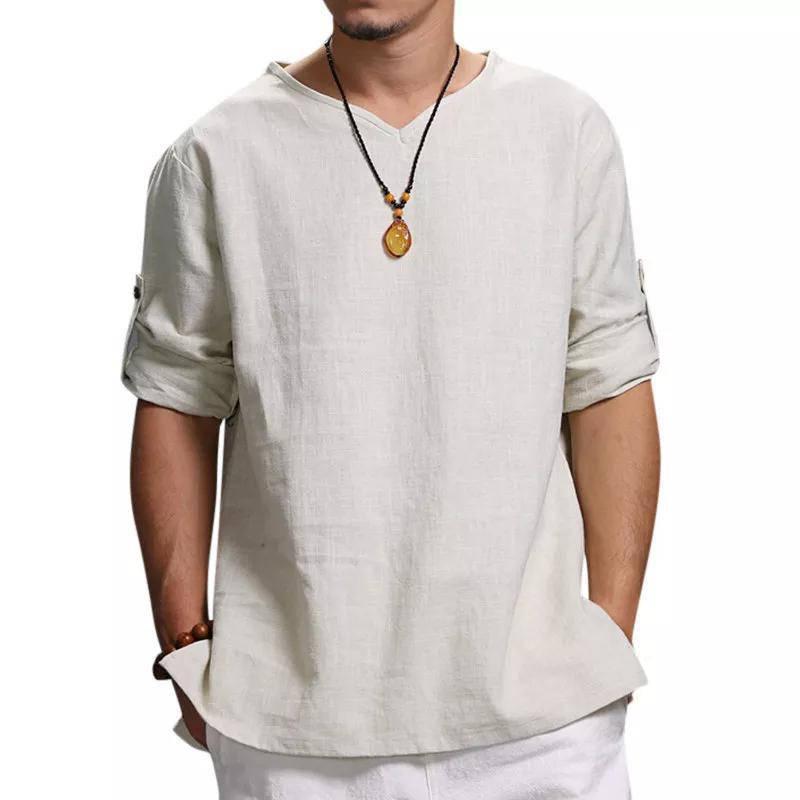 Designer Tshirts Pullover Loose Men Tshirts Casual Male Tops Solid Color Men
