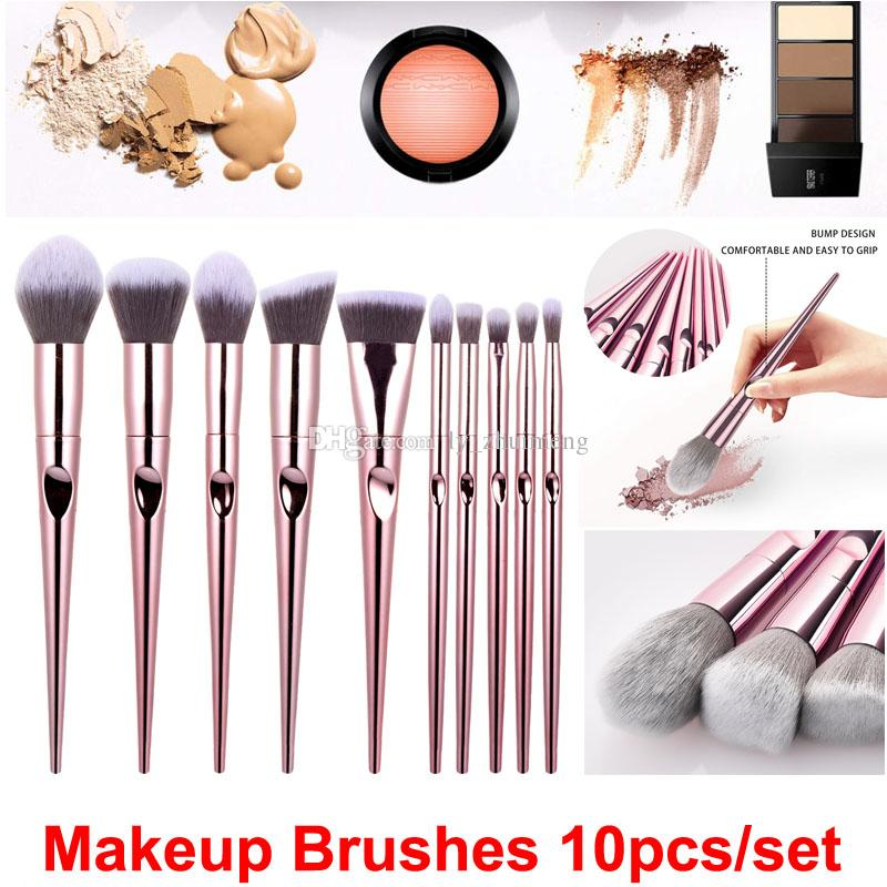 Makeup brushes 10 pcs/set Wet and Wild cosmetics brush set Powder Foundation Blush Eye Shadows Brushes Kit Hot Beauty Make Up Tools