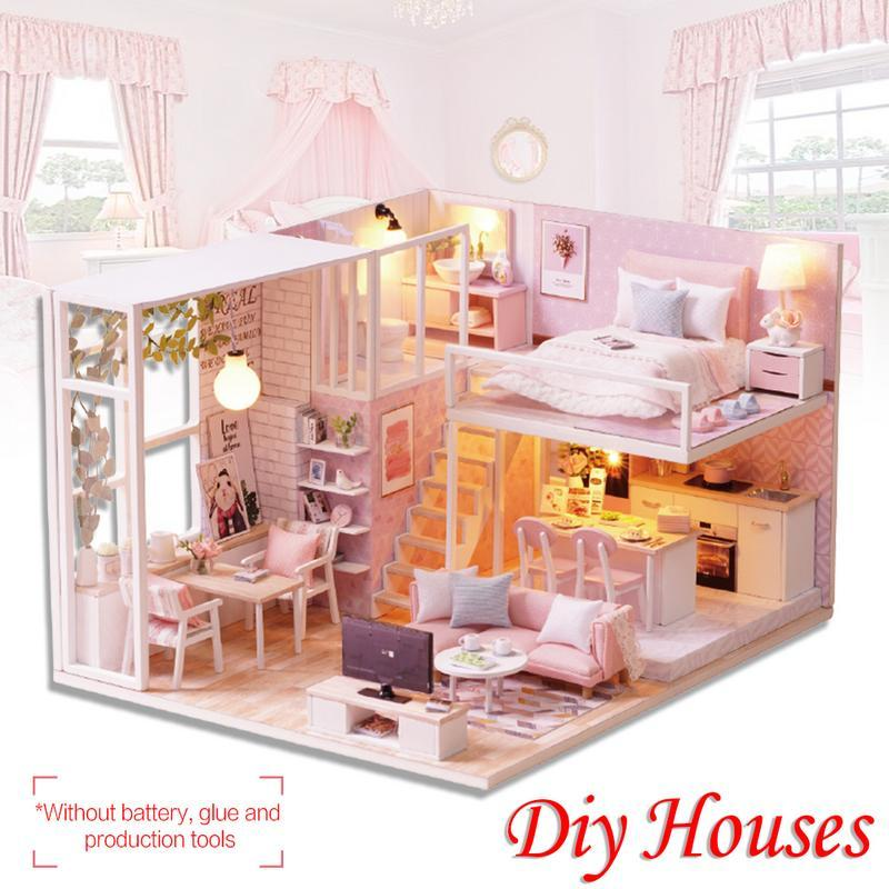 Diy Cottage Hut Small House Doll House Wooden Manual Assembly Home