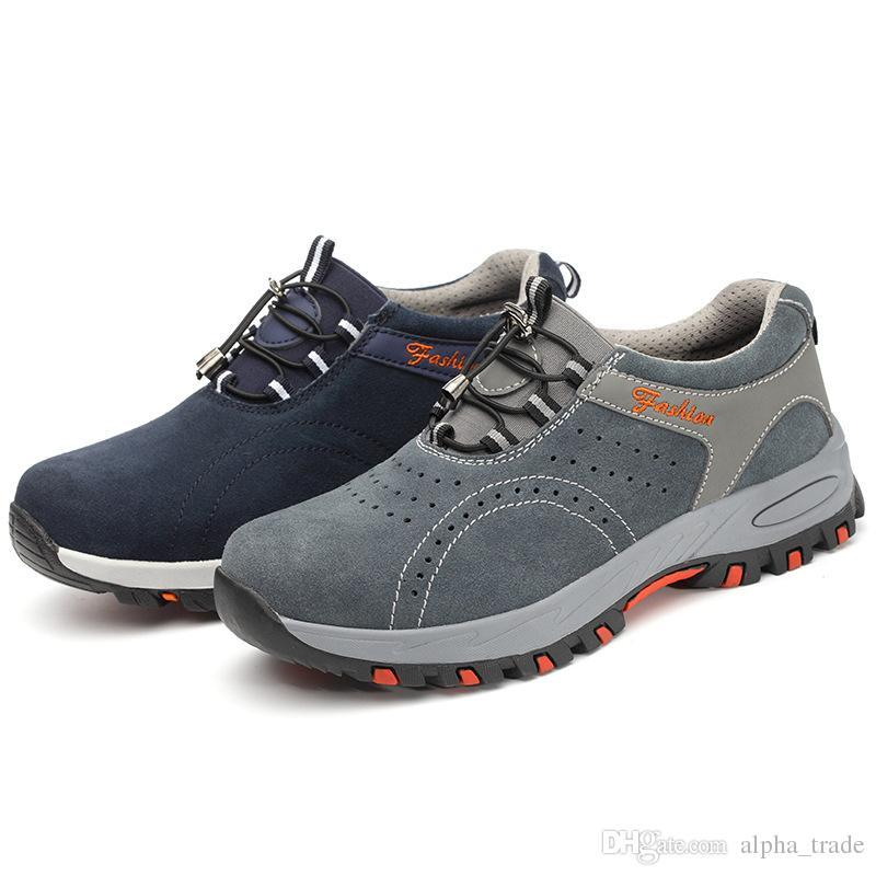 La sécurité au travail Toe acier respirante Cap Hommes Chaussures Hommes Outdoor anti-dérapant en acier anti-crevaison de sécurité de construction Chaussures Bottes