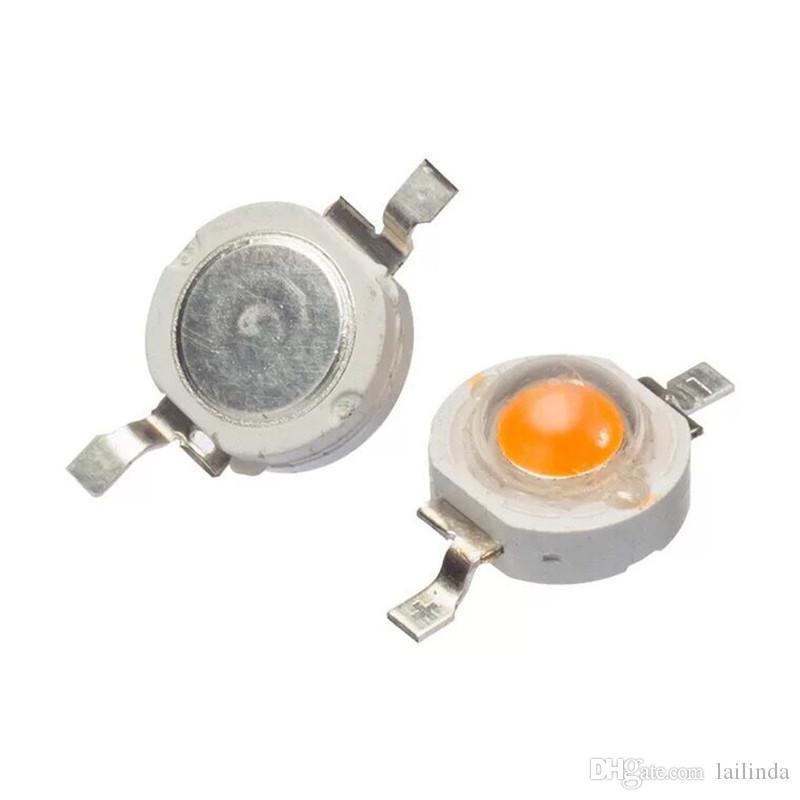 100pcs 3W LED haute puissance lampe usine Perle croissance Ampoule spectre 380-840nm 45mil Chip 700mA 180-200LM 03/02 au 03/04 Livraison gratuite