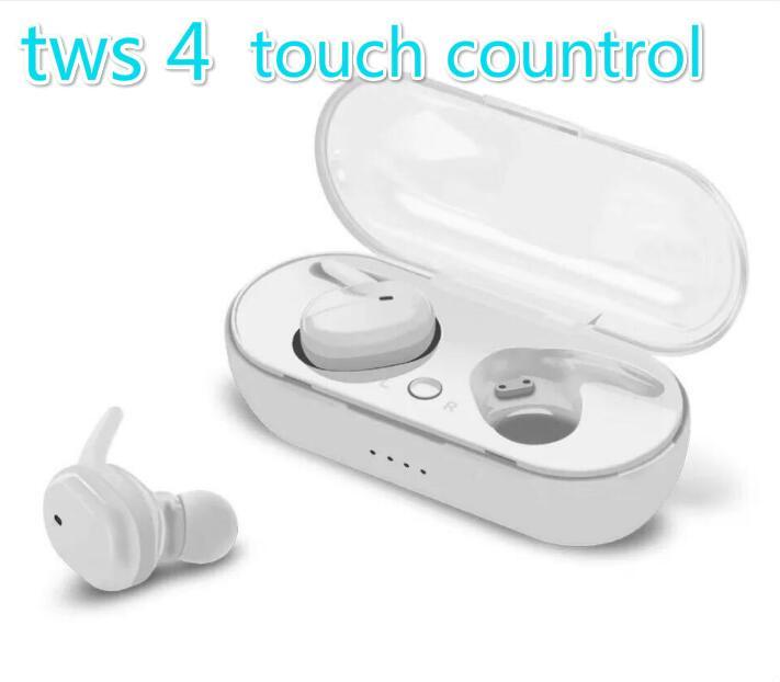 TWS-4 TWS Беспроводная гарнитура Bluetooth 5.0 Наушники Спорт с сенсорным управлением Earbuds против i12 i9s i80 i100 ТЕ10 для Iphone х Samsung s10 горячей продажи