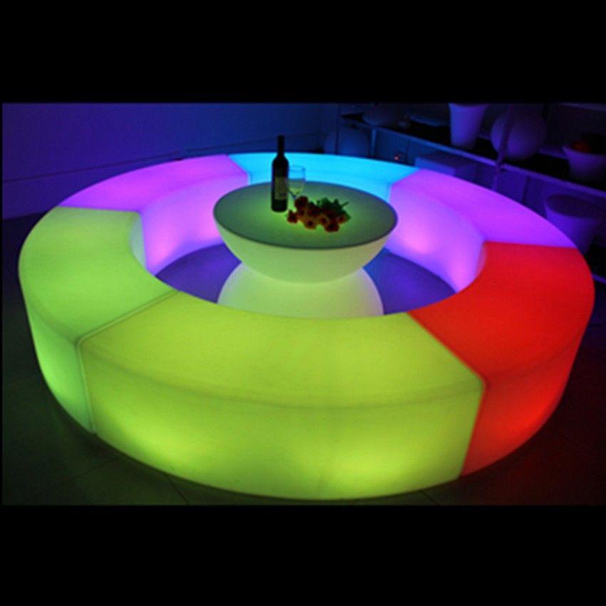 방수 빛나는 아크 모양의 뱀 의자 조합 거실 소파 LED 바 가구 폭발 모델 판매 바 의자