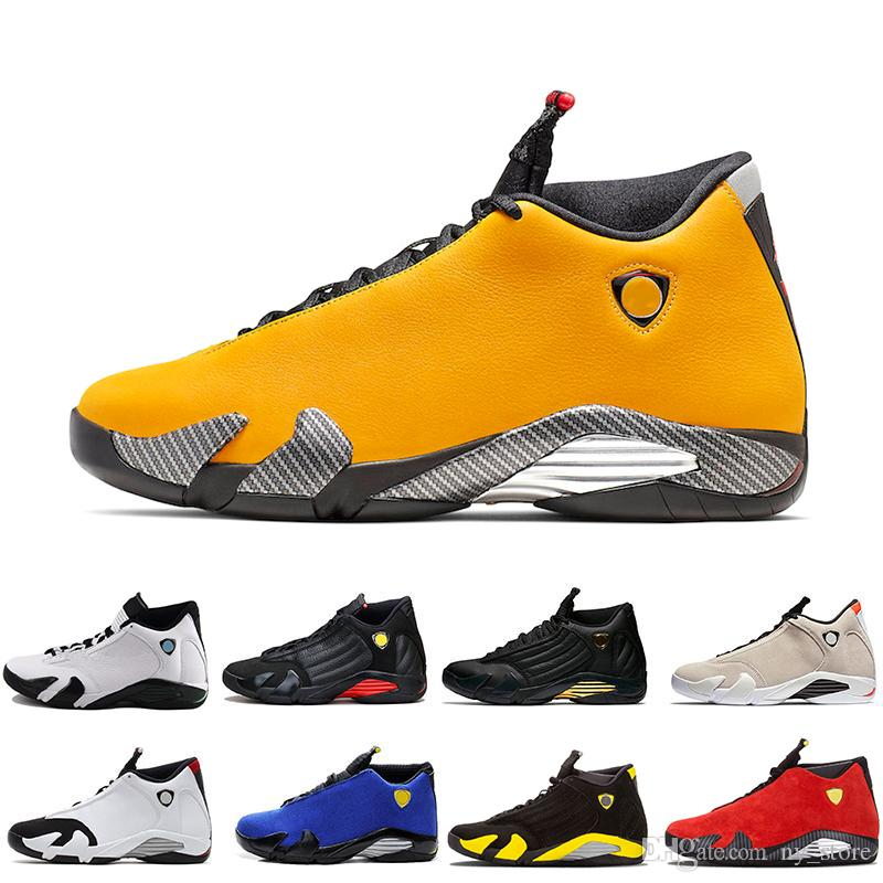 New Come Reverse Ferrar Men 14s Yellow Basketball Shoes Thunder Last Shot Sports Sneakers High Quality Rip Hamilton Mens Trainers