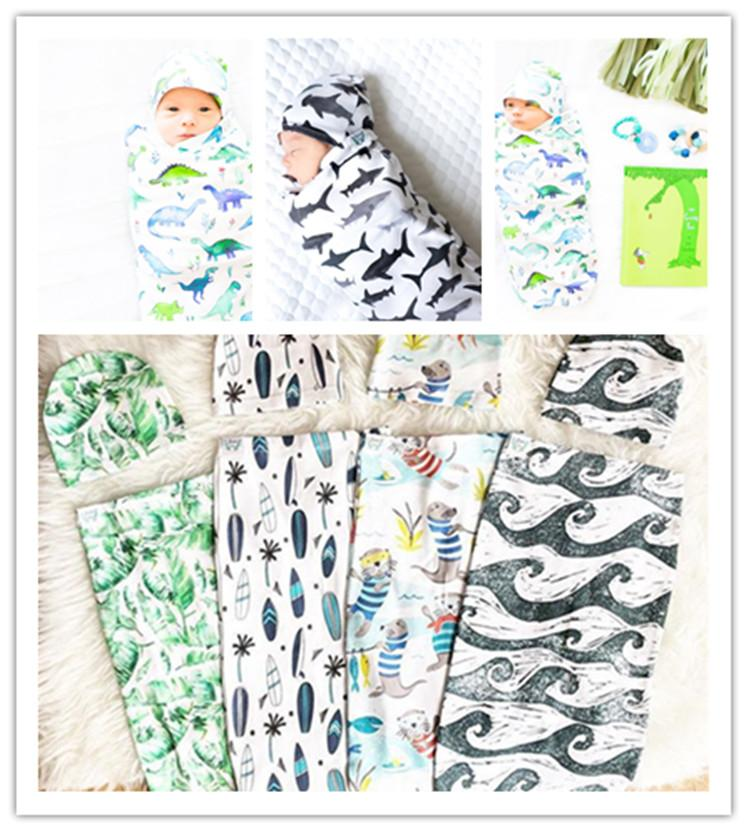 Cute Baby Sleeping Bags Hats Newborn Cotton Cartoon ...