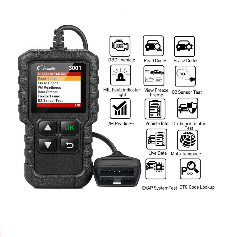 Voll OBD2 Scanner OBDII Maschinen-Codeleser-Auto-Diagnosewerkzeug Multilingual kostenloses Update PK CR319 AD310 ELM327 (RETAIL)