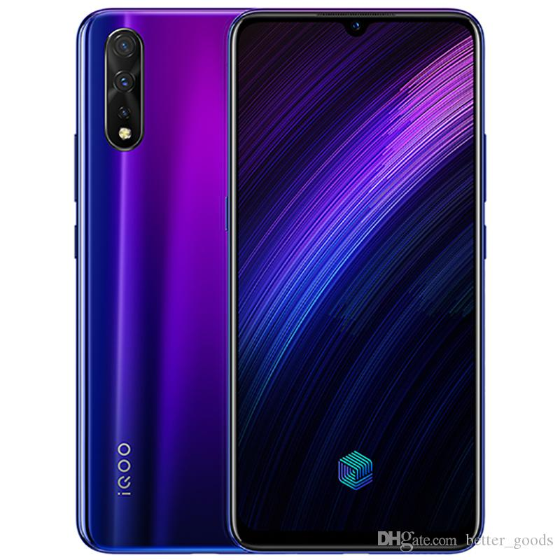 Vivo d'origine iQoo Neo 855 4G LTE Cell Phone 6 Go RAM 64 Go 128 Go ROM Snapdragon 855 Octa de base 6,38 pouces 16MP ID d'empreintes digitales Visage Téléphone mobile