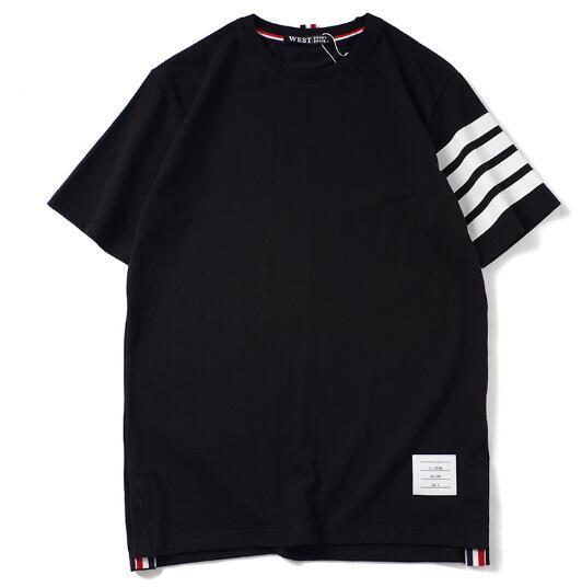 Europeo e americano nuova marea di Marca Degli Uomini di cotone sciolto tallone TB modelli 4 bar stampato a maniche corte T-shirt uomini e donne coppie studenti