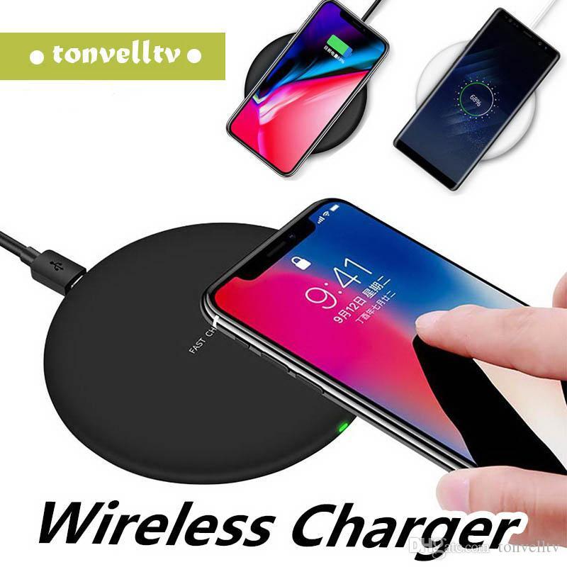 caricatore senza fili N5 per Iphone 8 X 9V 1.67A 5V 2A rapido rapido Qi caricatore ricarica per Samsung Galaxy S7 S8 Bordo Inoltre nota 5 7 con cavo USB