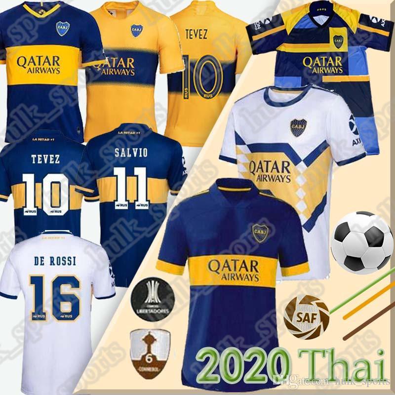 2020 2021 Boca Juniors camisa de futebol TEVEZ MARADONA DE ROSSI CARLITOS GAGO Camiseta de fútbol OSVALDO PAVON PEREZ tailândia pé maillot de