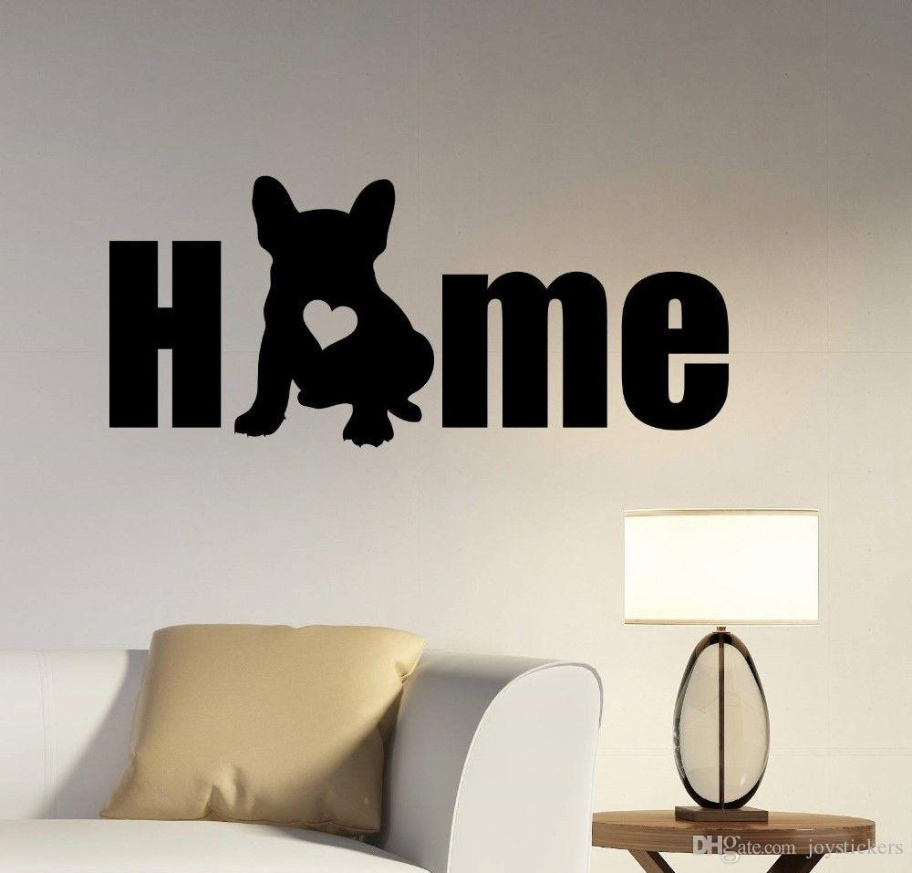 Dog Silhouette Wall Decal Removable Vinyl French Bulldog Wall Sticker Animal Home Decoration Pet Salon Wall Mural Poster