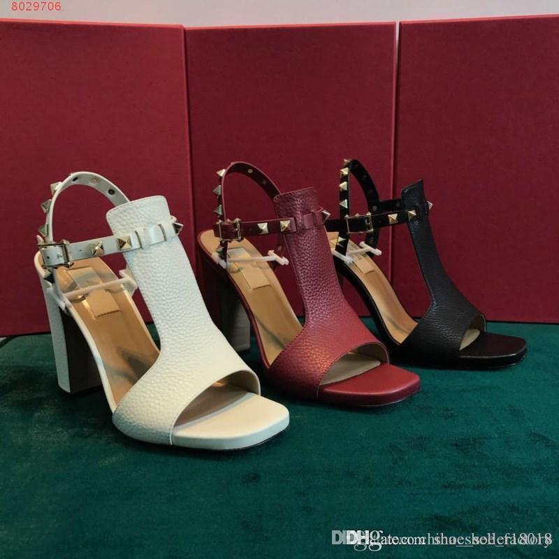 Chaussures femmes les marques importées tissu peau de vache avec doublure en cuir pour les chaussures à talons hauts-confortables sandales femmes
