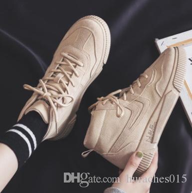 2020 ilkbahar ve sonbahar yeni yüksek üst Koreli versiyonu vahşi nefes beyaz ayakkabı öğrenci düz ayakkabılar kadın ayakkabıları