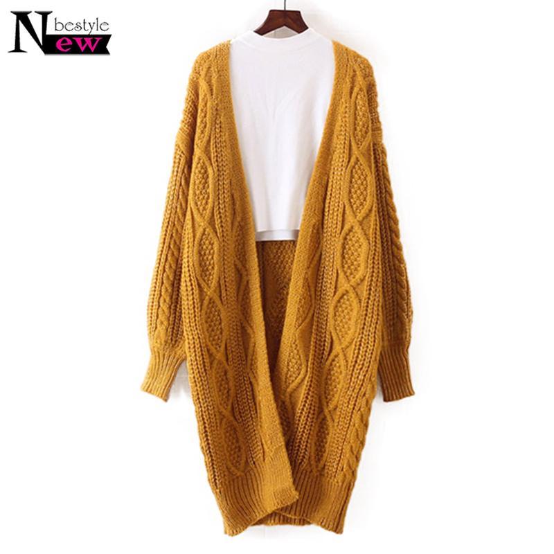 Women Long Cardigan Spring Autumn Open Stitch Poncho Knitted Sweater Women Cardigans V Neck Oversized Cardigan Jacket Coat