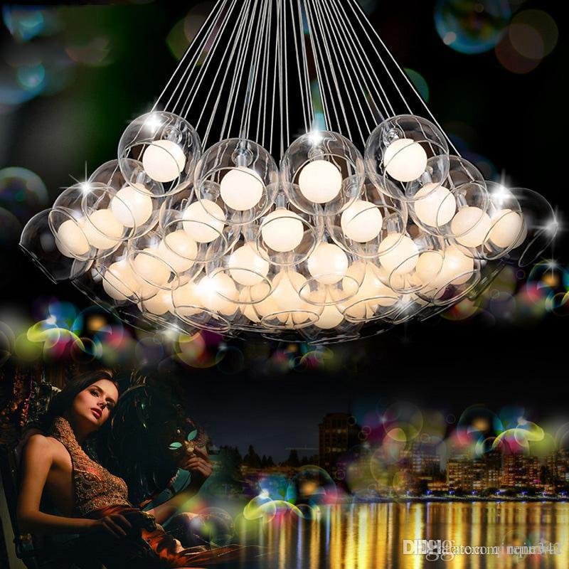 Moderno Led luces colgantes de cristal para comedor salón bar AC90-260V G4 Bombilla colgante de cristal lámpara colgante accesorios envío gratis