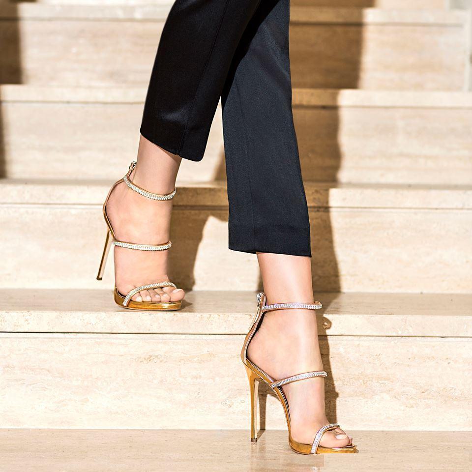 Crystal Narrow Band Design Sandals Women Thin High Heels Open Toe Shoes Zipper Sandals zapatos de mujer Women Shoes Size 34-40