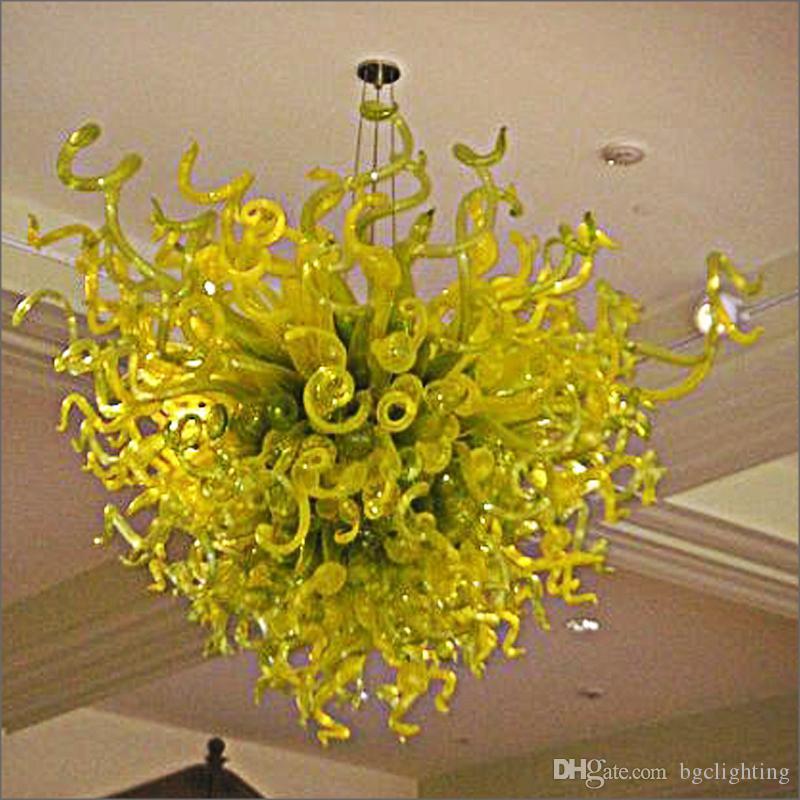 Новое прибытие Дешевые Цена Spring Style Art Glass Люстра Европа Разработанный Аннотация Открытый Обручальные Декоративные подвесные светильники