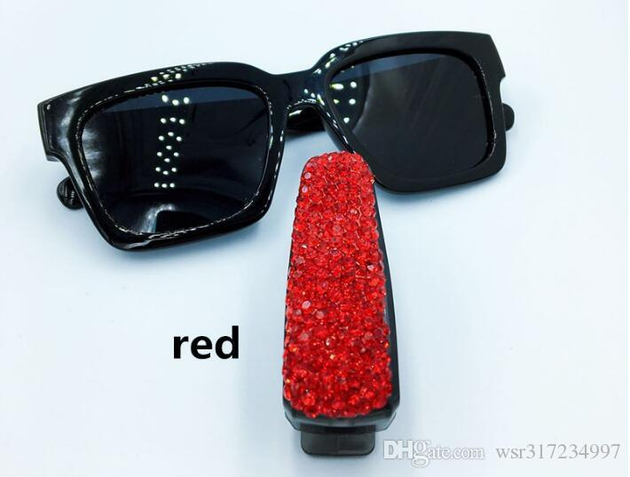 6f78f3a6f24 ... 2019 Brand New Auto Fastener Clip Rhinestone Diamond Car Sun Visor  Glasses Sunglasses folder Ticket Receipt ...