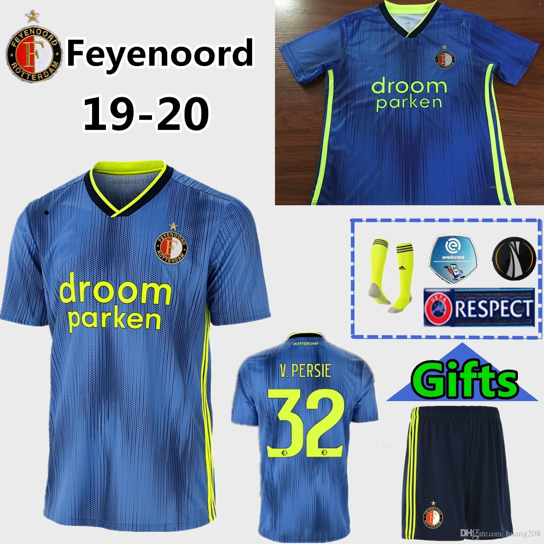 2019 19 20 Feyenoord Soccer Jersey 2019 2020 LARSSON 32 V.PERSIE 19 BERGHUIS 10 VILHENA 9 JORGENSEN FC Feyenoord Soccer Jersey Kids Kit Home Away From