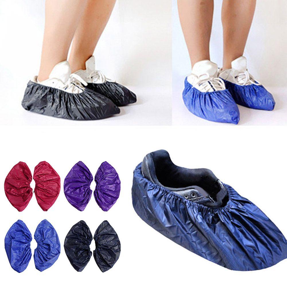 1 Pair Reusable Elastic Shoe Cover Flamingo Dust Proof Feet Covers Anti-skid
