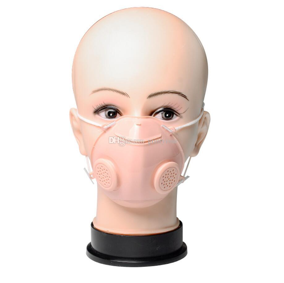 Sordomuda transparente de la mascarilla reutilizable lavable Máscaras de impresión del polvo anti anti-niebla Claro Máscara del diseñador con la válvula de respiración Máscara de filtro
