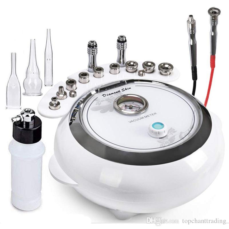 3 в 1 Алмазная микродермабразия машины для лица Уход за кожей Вакуумный спрей для салона Оборудование Личном Домашний