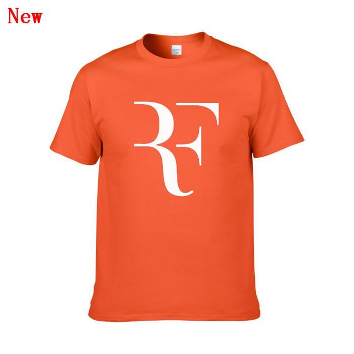 Nueva Roger Federer RF camisetas del tenis de los hombres algodón de manga corta impresa perfecta para hombre de la camiseta de la moda masculina Deporte Oner dimensionado Tees ZGY2
