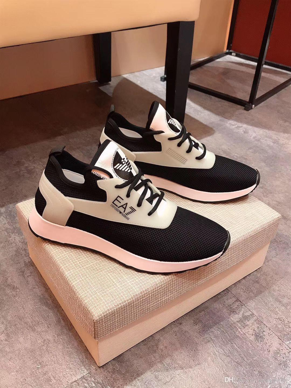 Armani 2020 yeni yüksek kaliteli deri gündelik erkek ayakkabısı erkek rahat sürüş ayakkabısı elastik bant deri streç kumaş moda erkek ayakkabıları xx3