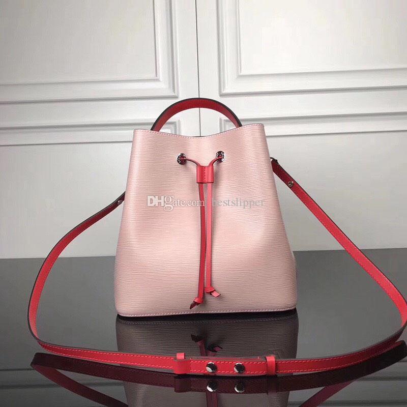 M54370 Bucket Seau Eaupauve Tote Crossbody Vendre Quality Mode Néonoe Cuir Sacs Classic Célèbre Sac Sac à main Sac Né Né Femmes Haut Haute Real Hot CNKV