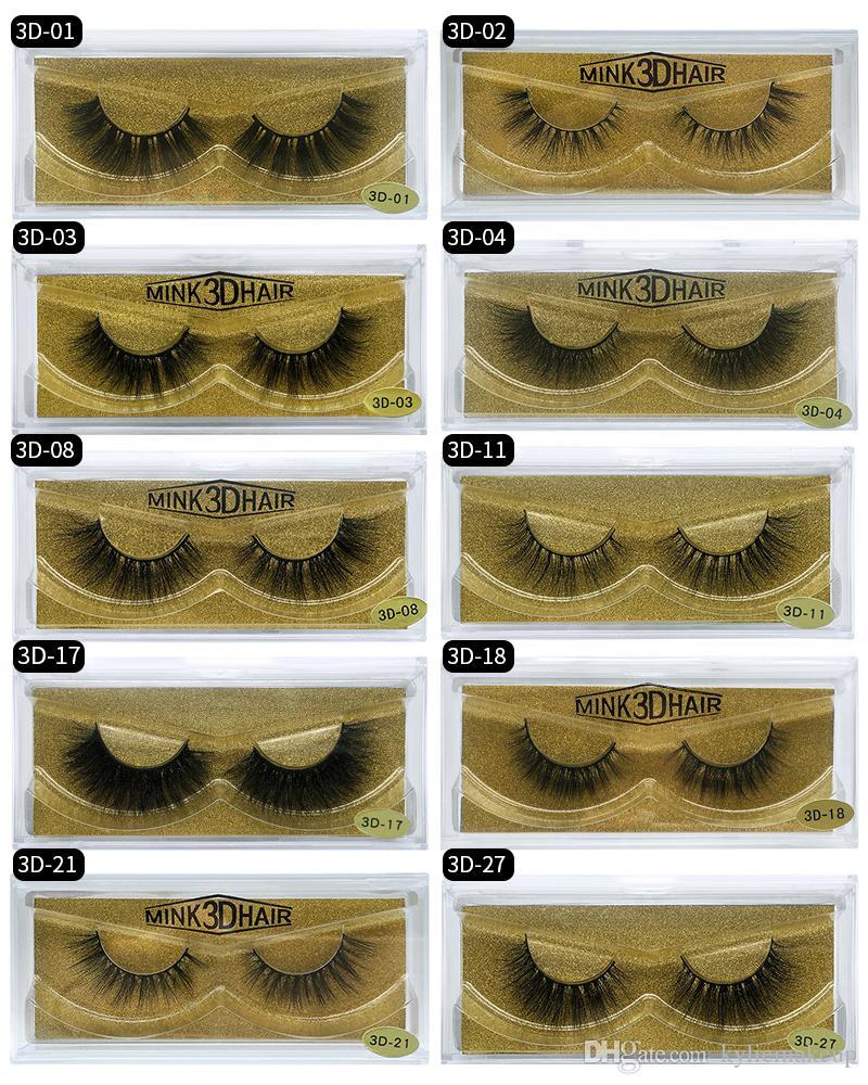 Yeni Marka HUAPAN 3D Vizon Kirpikler Kirpik Göz Kirpik Uzatma Seksi Kirpik Tam Şerit Göz Lashes Altın Paketi