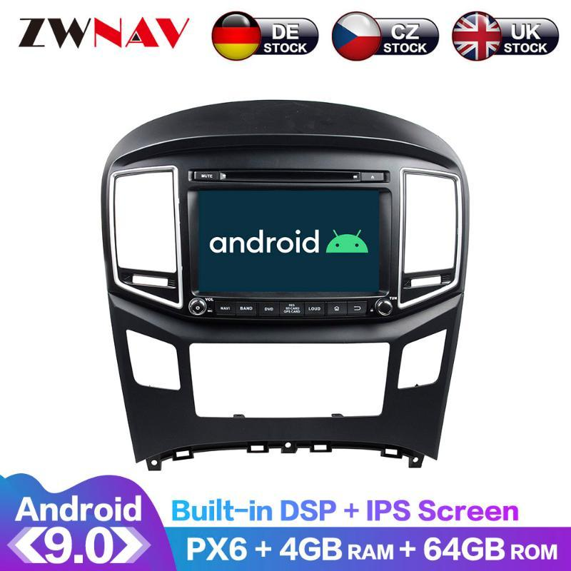 Android 9 IPS PX6 Tela DSP Para H1 Grande Starex 2016 + Car DVD GPS Multimedia Player unidade central Radio Navi áudio estéreo