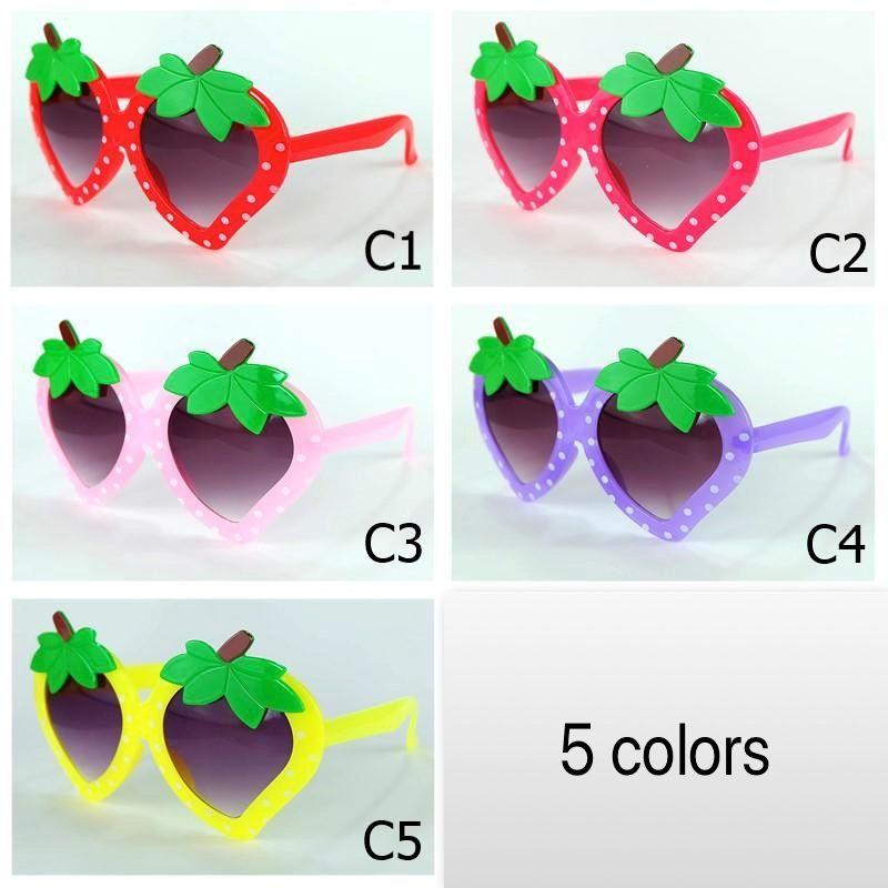 Frucht Kinder Sonnenbrille Erdbeerformrahmen Schnitt Kinder Sonnenbrille Ananas-Stil Party Eyewear Großhandel