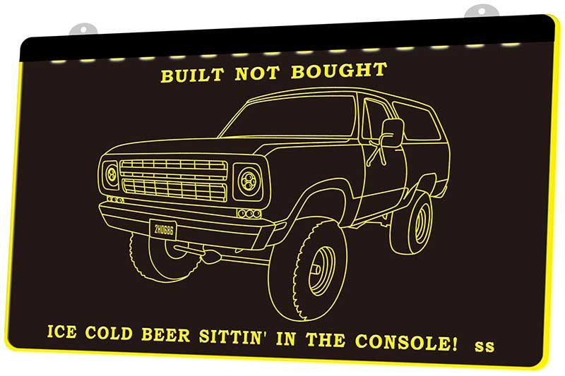 LD3832 (y) Car Truck Bulit Not Bought Ice Cold Beer Neon Light Sign Decor Free Shipping Dropshipping Wholesale 8 colors to choose