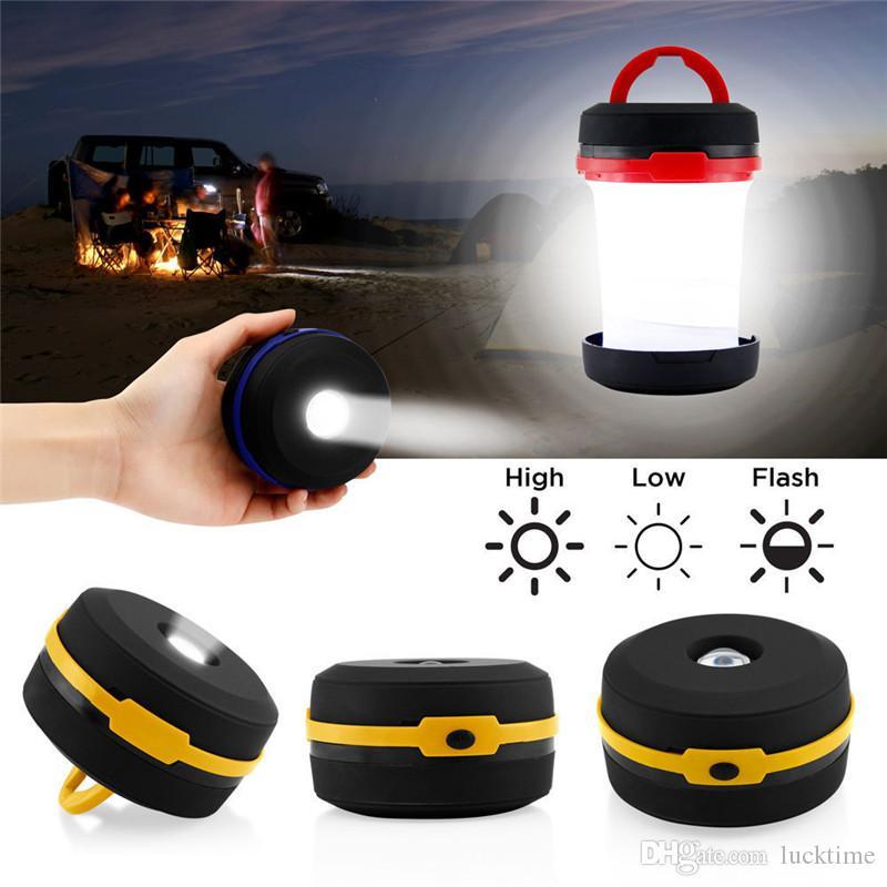 Outdoor Scalable Tent Light Portable Camping Lantern Multifunction Retractable Mini Tent Light Emergency Lamp Pocket Flashlight