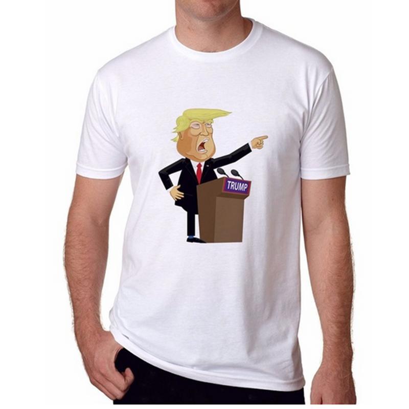 Mode Männer / Frauen 3D Print Donald Trump Lässige T-Shirt Kurzarm F061