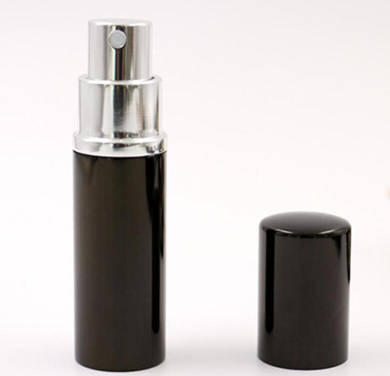 Refill bottiglia nera di colore 10ml Mini portatile profumo riutilizzabile dello spruzzo Bottiglie Bottiglie vuote Bottiglie contenitori cosmetici