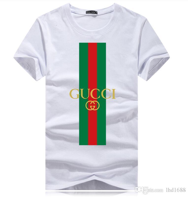 2020 Art und Weise neues beiläufigen Baumwoll-T-Shirt für Männer Kurzhülse Oansatz Druck der Männer T-Shirt Top-T-Shirt Kleidung der Frauen
