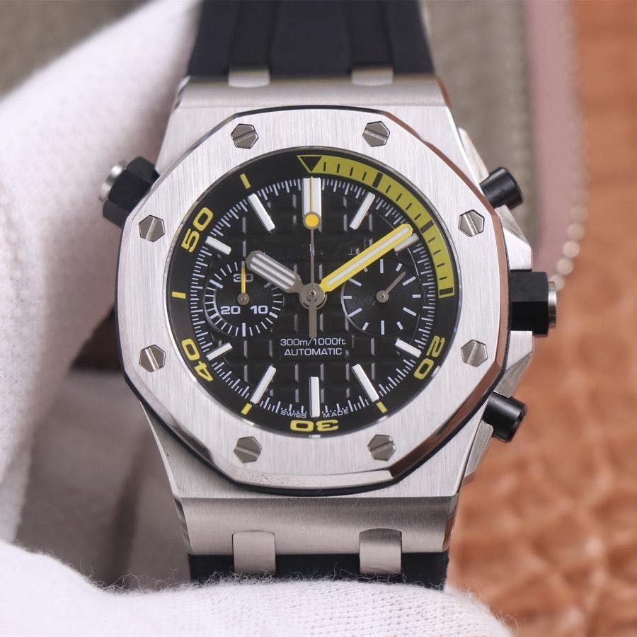 Это высокое качество 26703 мужские часы силиконовый ремешок 42мм дизайн движение автоматического механического движения
