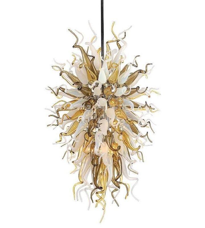 Lampade moderne LED Lampadari in cristallo Home Decor Apparecchio Lampadario Lampadario Blown Murano Pendente in vetro
